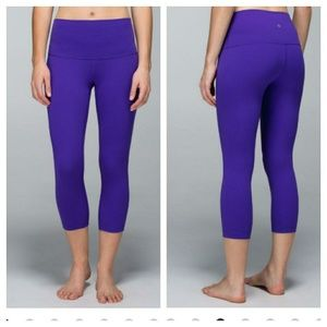 Lululemon Wunder Under Luon Roll Over Crops